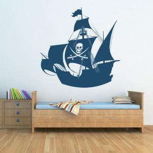 autocollant bateau pirates